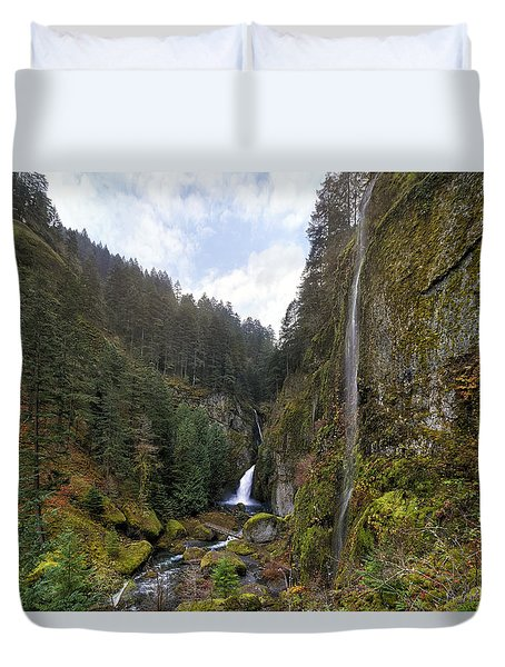 After A Rainstorm Duvet Cover by David Gn
