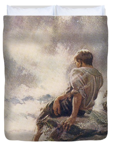 After Being Shipwrecked Robinson Crusoe Duvet Cover