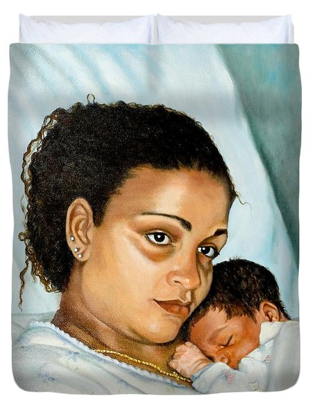 After Birth Jacina And Javon Duvet Cover
