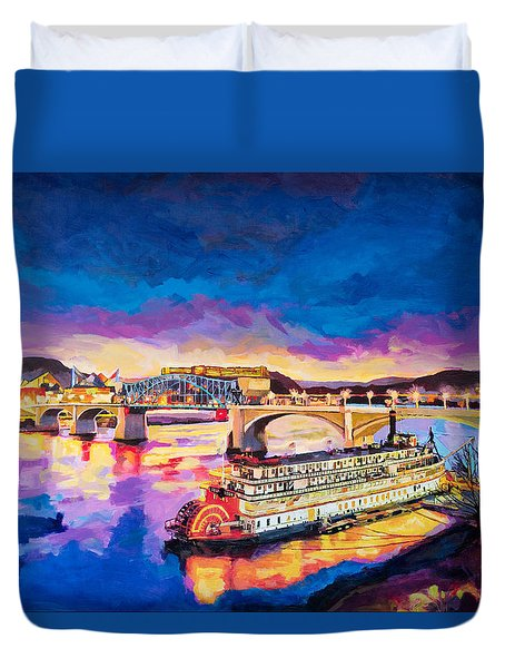After Dusk Painting Duvet Cover