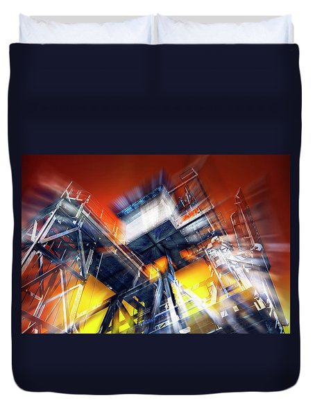 Duvet Cover featuring the photograph After Effect by Wayne Sherriff