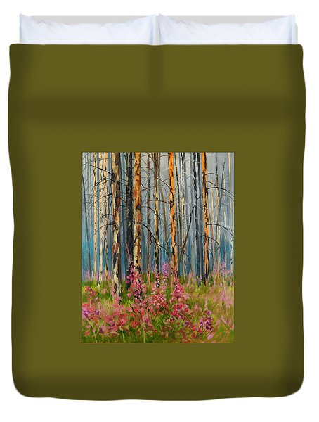 After Forest Fire Duvet Cover