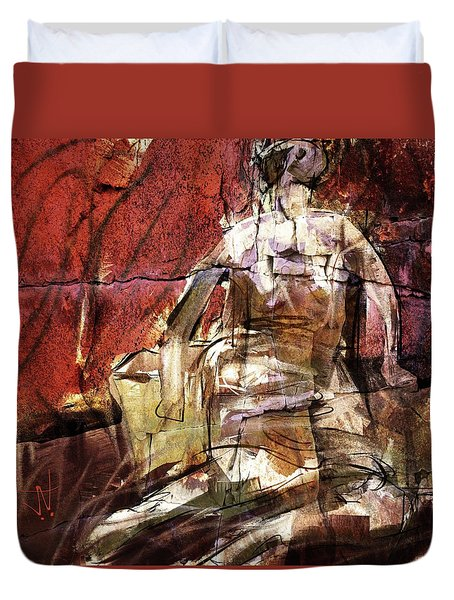 After Henry Moore IIII Duvet Cover