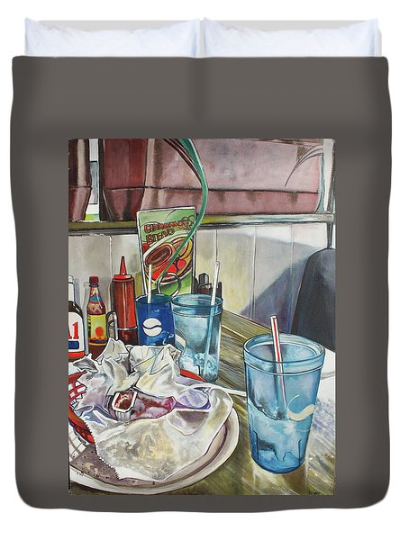 After Lunch Duvet Cover by Stephanie Come-Ryker