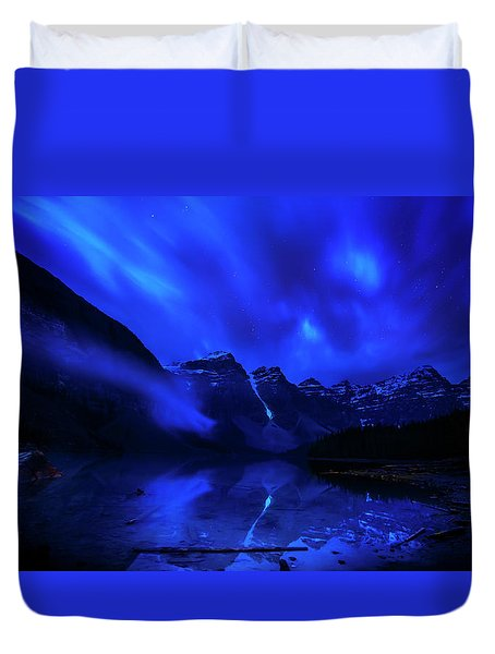 Duvet Cover featuring the photograph After Midnight by John Poon