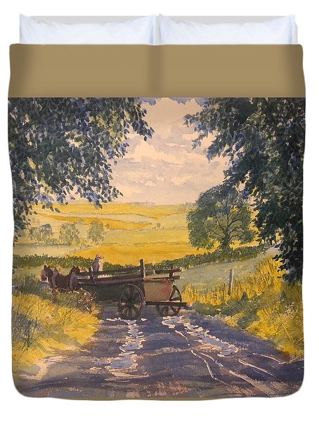 After Rain On The Wolds Way Duvet Cover