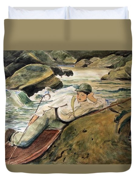 After Sargent Duvet Cover by Nancy Kane Chapman