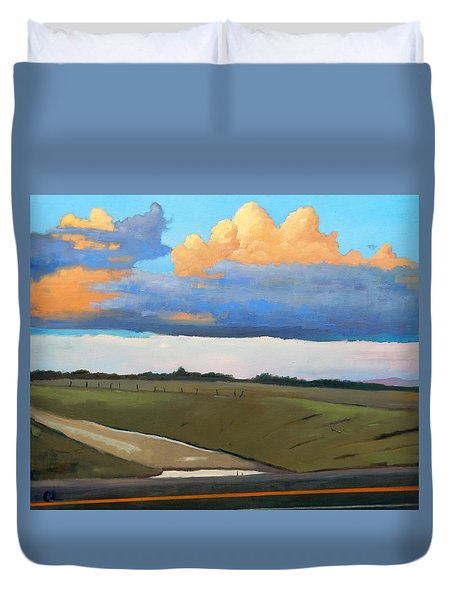 Duvet Cover featuring the painting After Shower by Gary Coleman