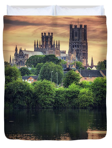 Duvet Cover featuring the photograph After Sunset by James Billings