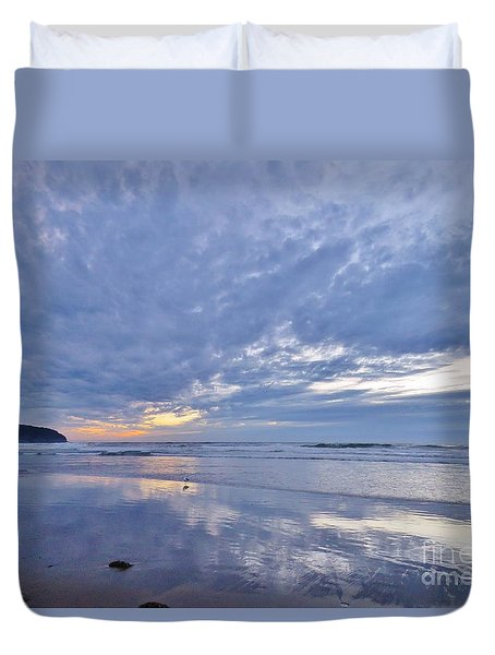 Moonlight After Sunset Duvet Cover by Michele Penner