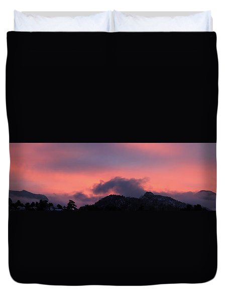 After Sunset - Panorama Duvet Cover