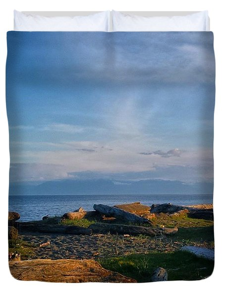 After Supper Relaxing At The Lagoon! Duvet Cover