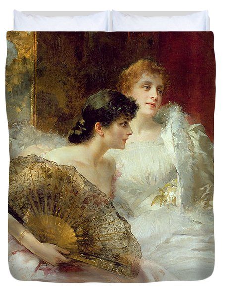 After The Ball Duvet Cover by Conrad Kiesel
