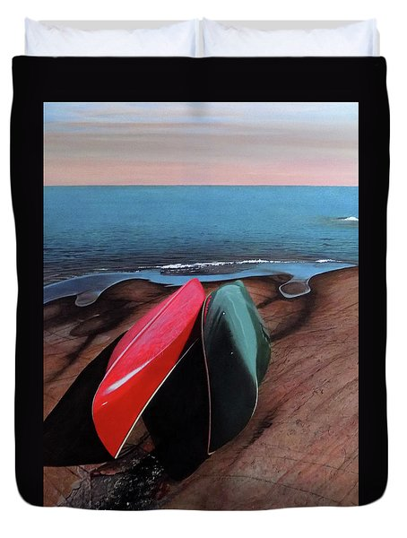 Duvet Cover featuring the painting After The Crossing by Kenneth M Kirsch