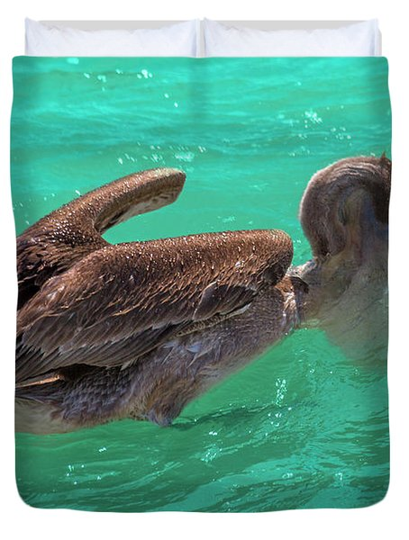 After The Dive Southern Most House Key West Duvet Cover