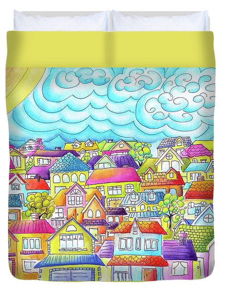 After The Dust Has Settled Duvet Cover by Oiyee At Oystudio