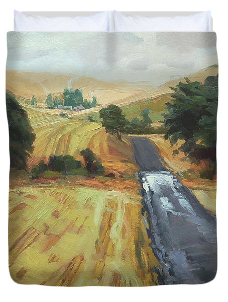 After The Harvest Rain Duvet Cover