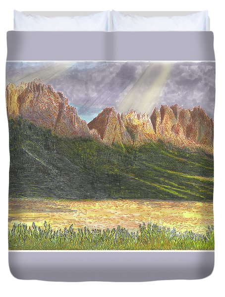 After The Monsoon Organ Mountains Duvet Cover by Jack Pumphrey