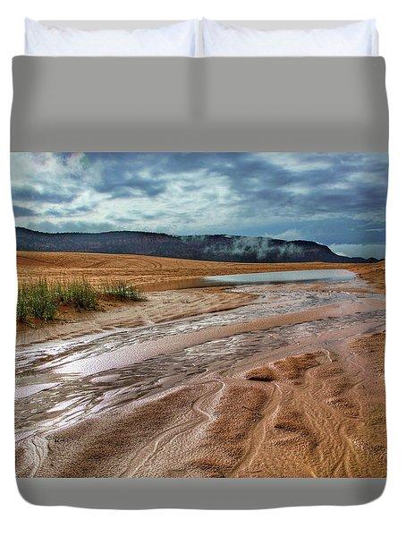 After The Rain - Coral Pink Sand Dunes - Utah Duvet Cover