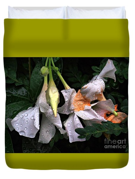 After The Rain - Flower Photography Duvet Cover