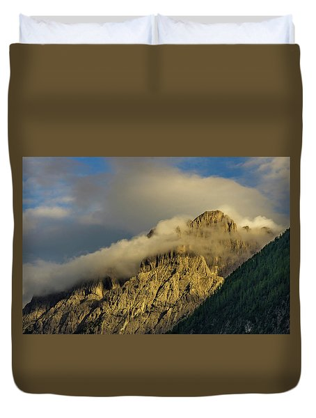 After The Rain In The Austrian Alps. Duvet Cover by Ulrich Burkhalter