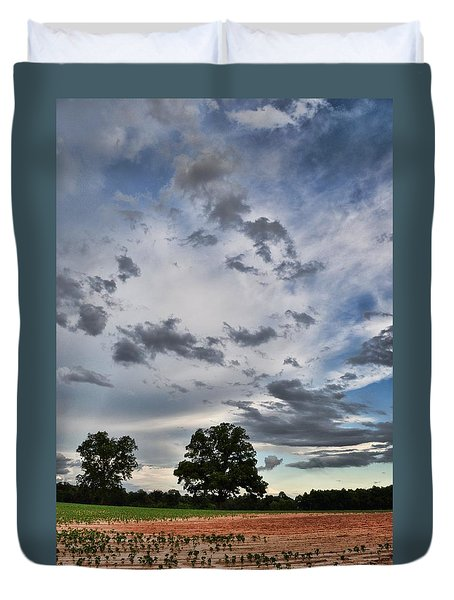 Duvet Cover featuring the photograph After The Rain by Jan Amiss Photography