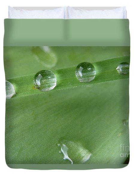 Duvet Cover featuring the photograph After The Rain by Jean Bernard Roussilhe