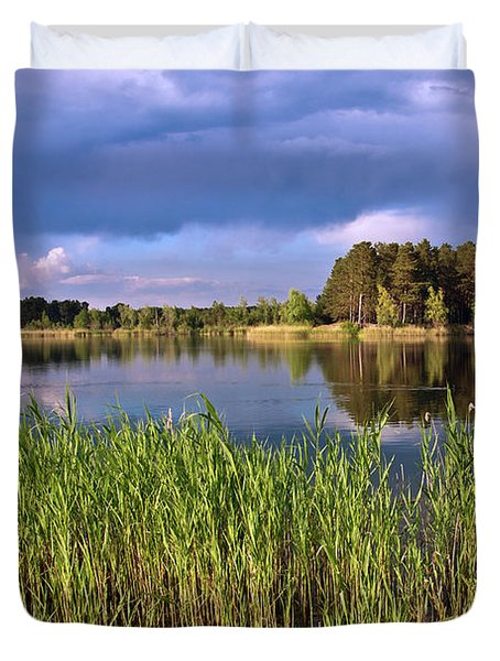 After The Rain Poetry Duvet Cover