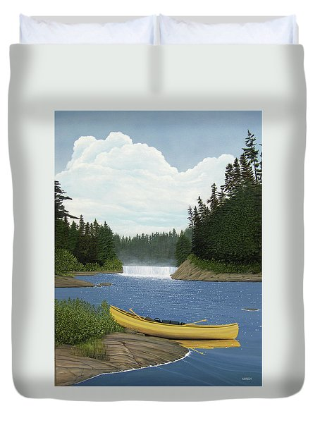 After The Rapids Duvet Cover