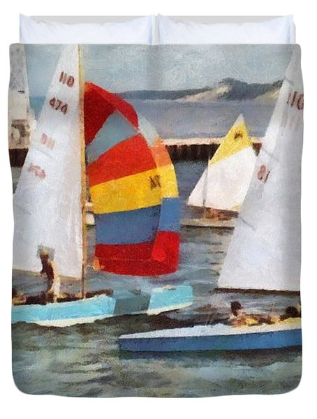 After The Regatta  Duvet Cover
