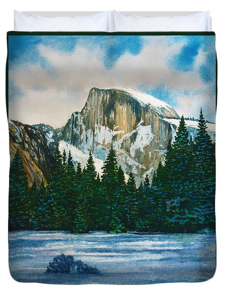 After The Snowfall, Yosemite Duvet Cover