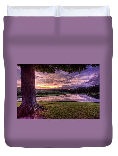 Duvet Cover featuring the photograph After The Storm At Mapleside Farms by Brent Durken
