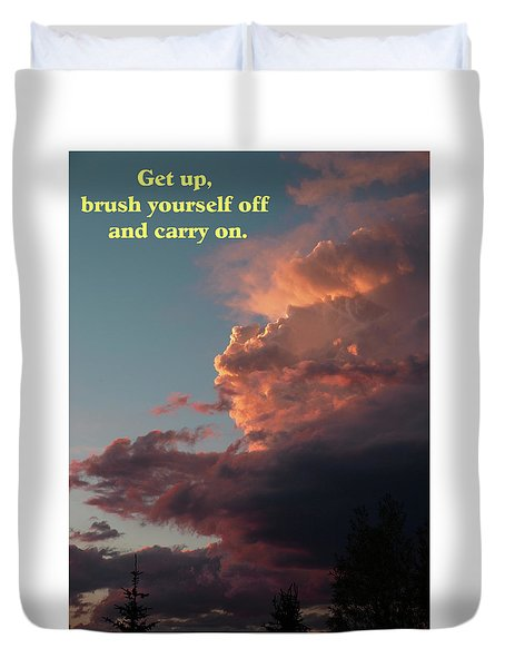 After The Storm Carry On Duvet Cover by DeeLon Merritt