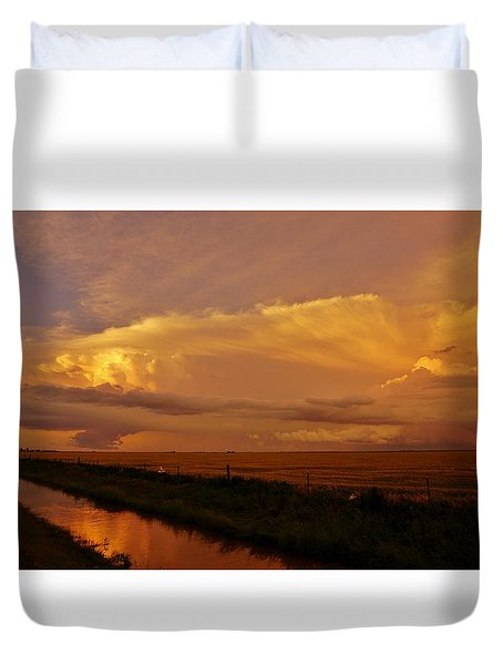 Duvet Cover featuring the photograph After The Storm by Ed Sweeney