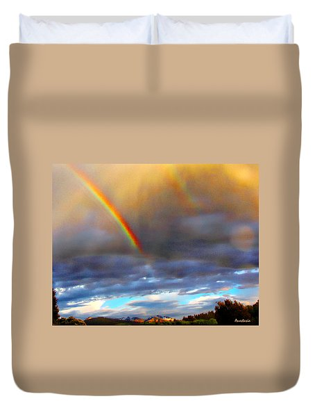 After The Storm El Valle New Mexico Duvet Cover