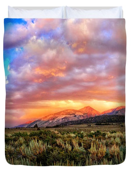 After The Storm Panorama Duvet Cover