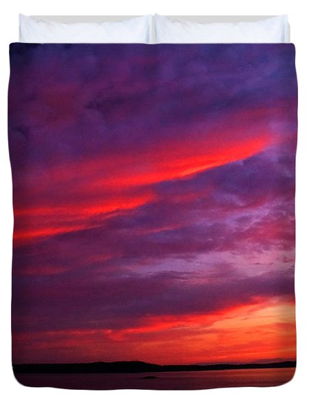 Duvet Cover featuring the photograph After The Storm Sunset by Alana Ranney
