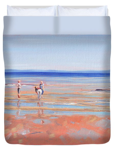 After The Walk - Whiting Bay Duvet Cover