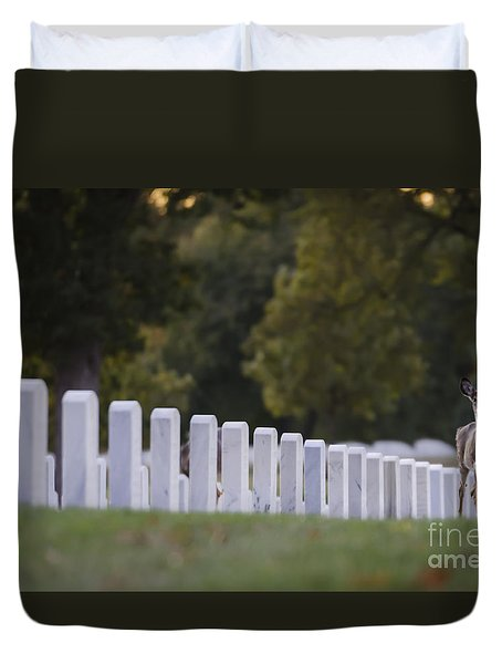 Duvet Cover featuring the photograph After Visiting Hours by Andrea Silies
