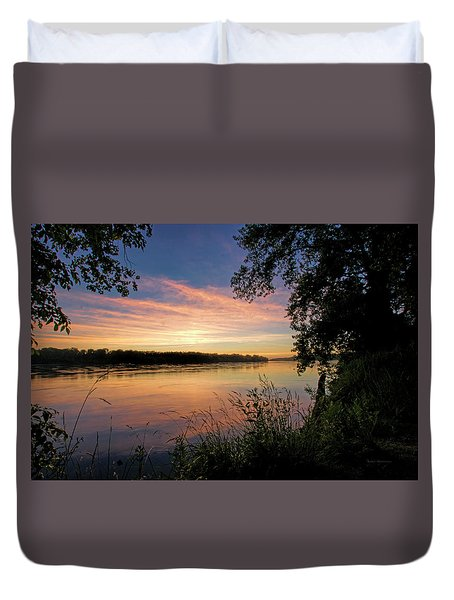 Duvet Cover featuring the photograph Afterglow by Cricket Hackmann