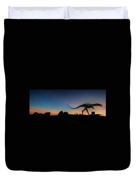 Afterglow Dinosaur Duvet Cover by Gary Warnimont