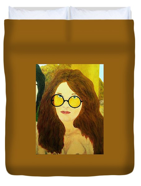 Afterlife Concerto Janis Joplin Duvet Cover by Rand Swift