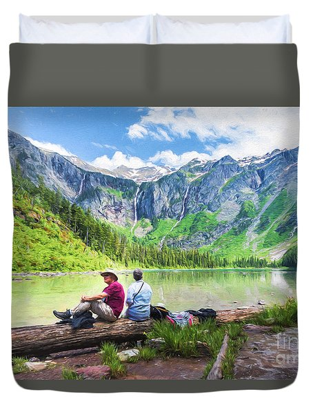 Afternoon At Avalanche Lake Duvet Cover