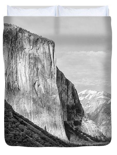 Duvet Cover featuring the photograph Afternoon At El Capitan by Sandra Bronstein