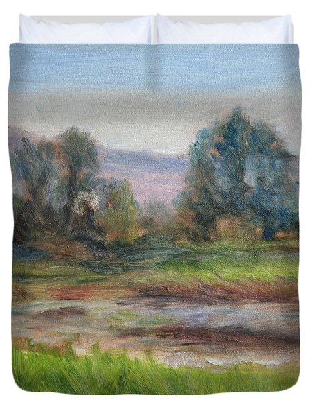 Afternoon At Sauvie Island Wildlife Viewpoint Duvet Cover