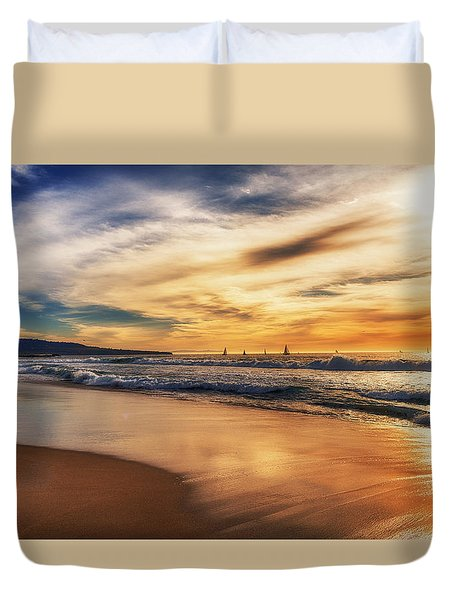 Afternoon At The Beach Duvet Cover