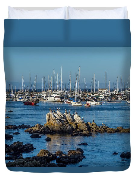 Afternoon At The Breakwater Duvet Cover by Derek Dean