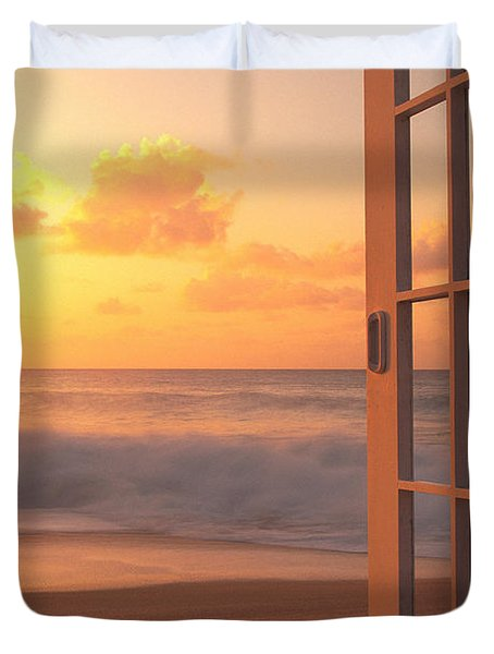 Afternoon Beach Scene Duvet Cover by Dana Edmunds - Printscapes