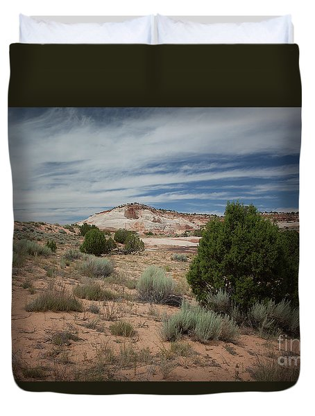 Duvet Cover featuring the photograph Afternoon Clouds Over White Pocket by Anne Rodkin