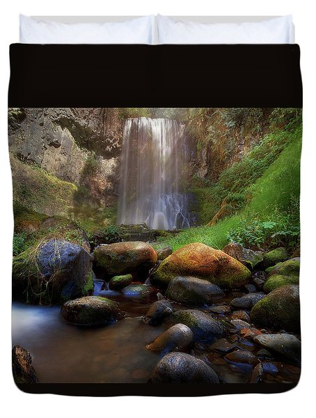 Afternoon Delight At Upper Bridal Veil Falls Duvet Cover by David Gn